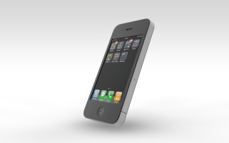 iPhone 4 Fully Textured Cinema 4D Model